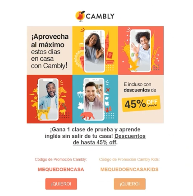 Idea newsletter Cambly